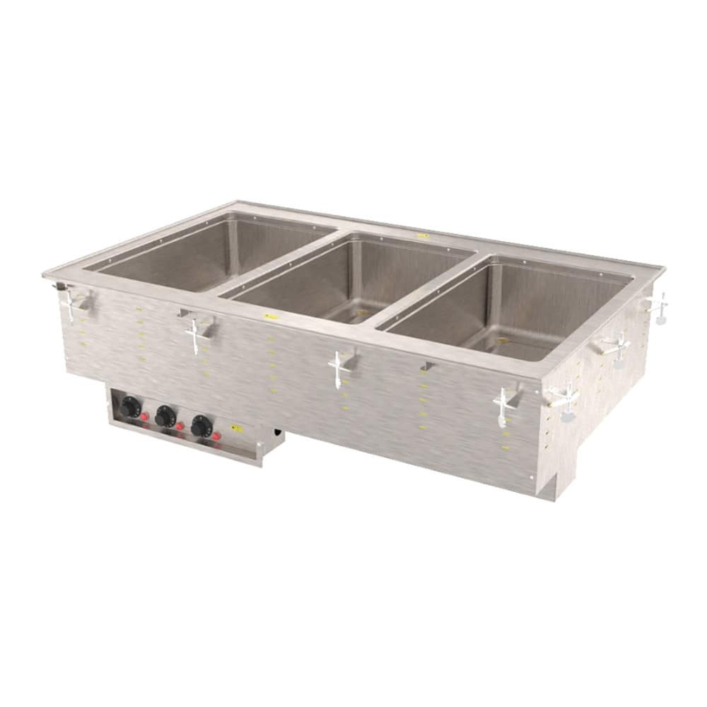 Vollrath 3647360 Drop-In Hot Food Well w/ (3) Full Size Pan Capacity, 240v/1ph