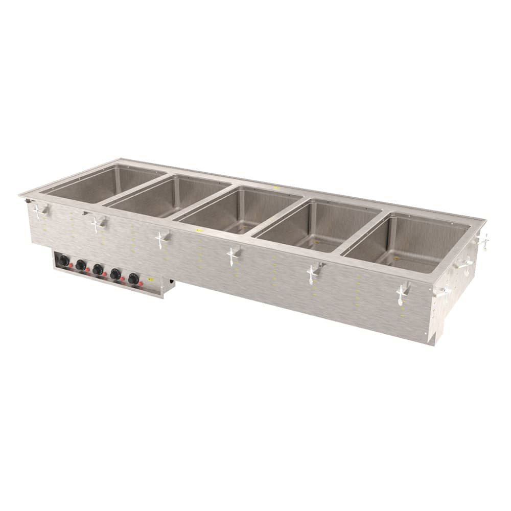 Vollrath 36475 Drop-In Hot Food Well w/ (5) Full Size Pan Capacity, 240v/1ph