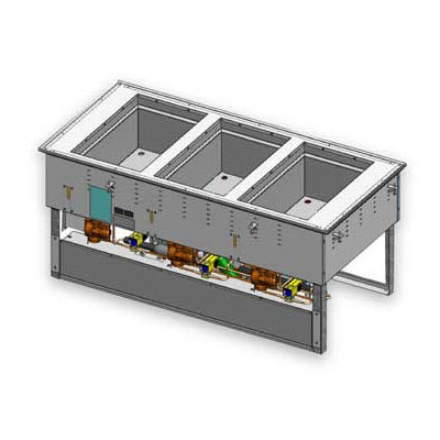Vollrath 3667302D Drop-In Hot & Cold Food Well w/ (3) Full Size Pan Capacity, 120/208-240v/1ph