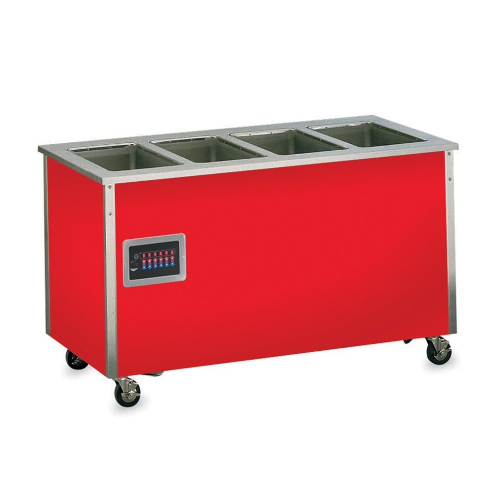 Vollrath 37040 4 Well Hot Food Station - Enclosed Base, Thermostat, Manifold Drain, 34x60x28
