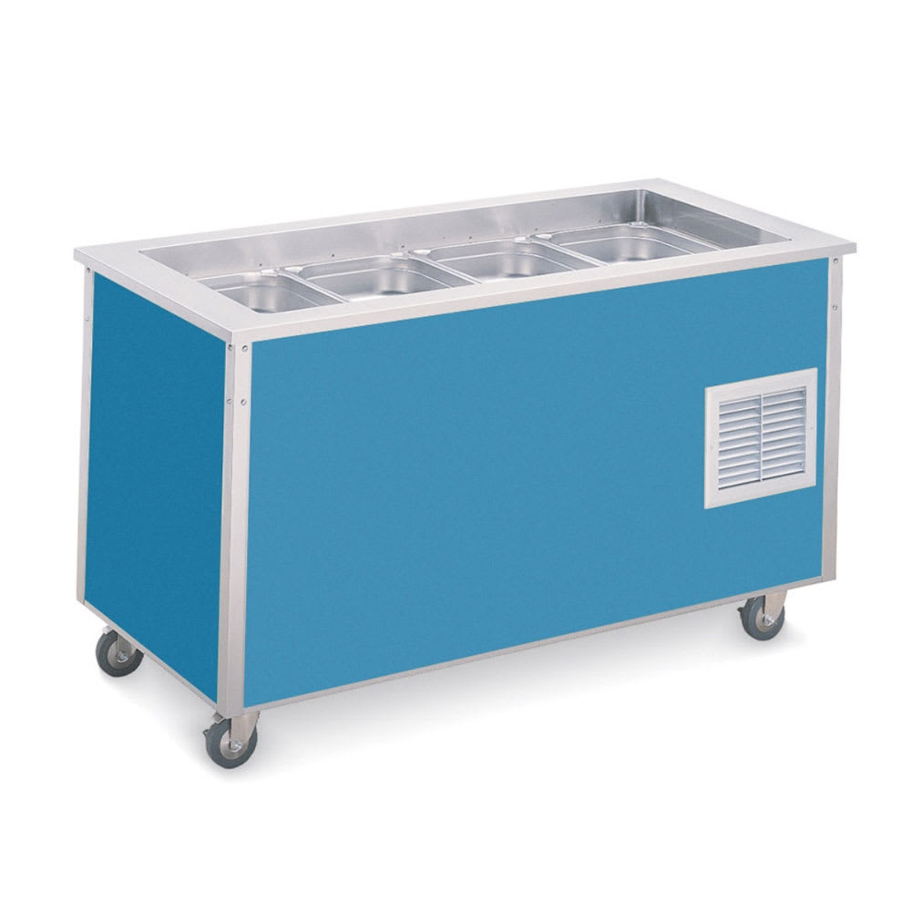 "Vollrath 37076 Standard 7 Cold Food Station - 6"" Deep Wells, 34x74x28, Black"