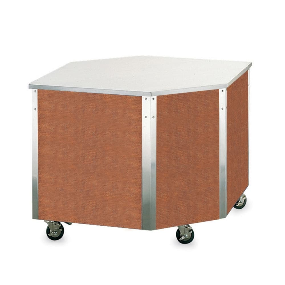 """Vollrath 37085 Modular Corner Serving Station - ADA, Enclosed Base, 19 5/16x28x28"""", Stainless"""