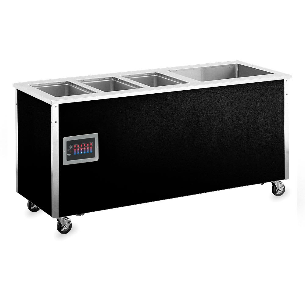 Vollrath 37095 4 Well Hot/Cold Food Station - Thermostat, Manifold, 1/5HP Compressor, 34x74x28