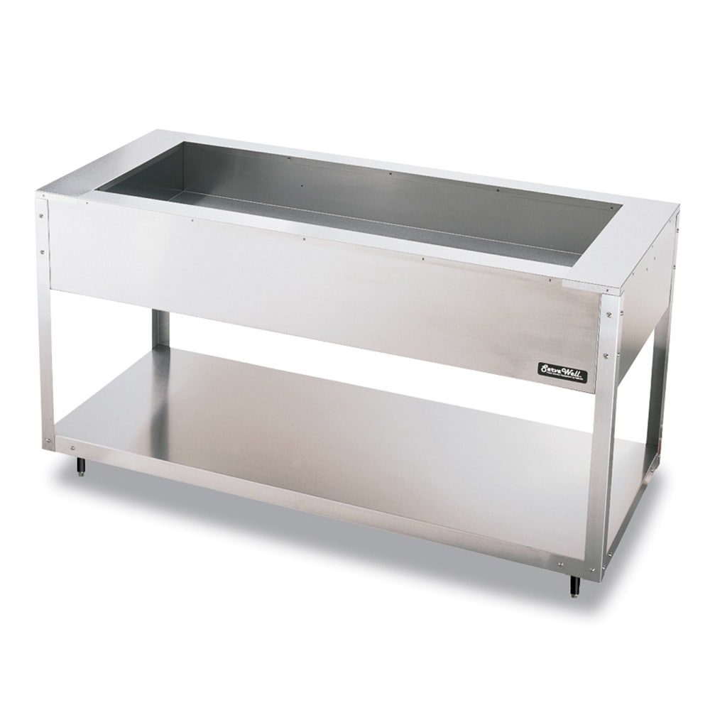 Vollrath 38014 4-Well Cold Food Table - Non-Refrigerated, 61-1/4x27x34
