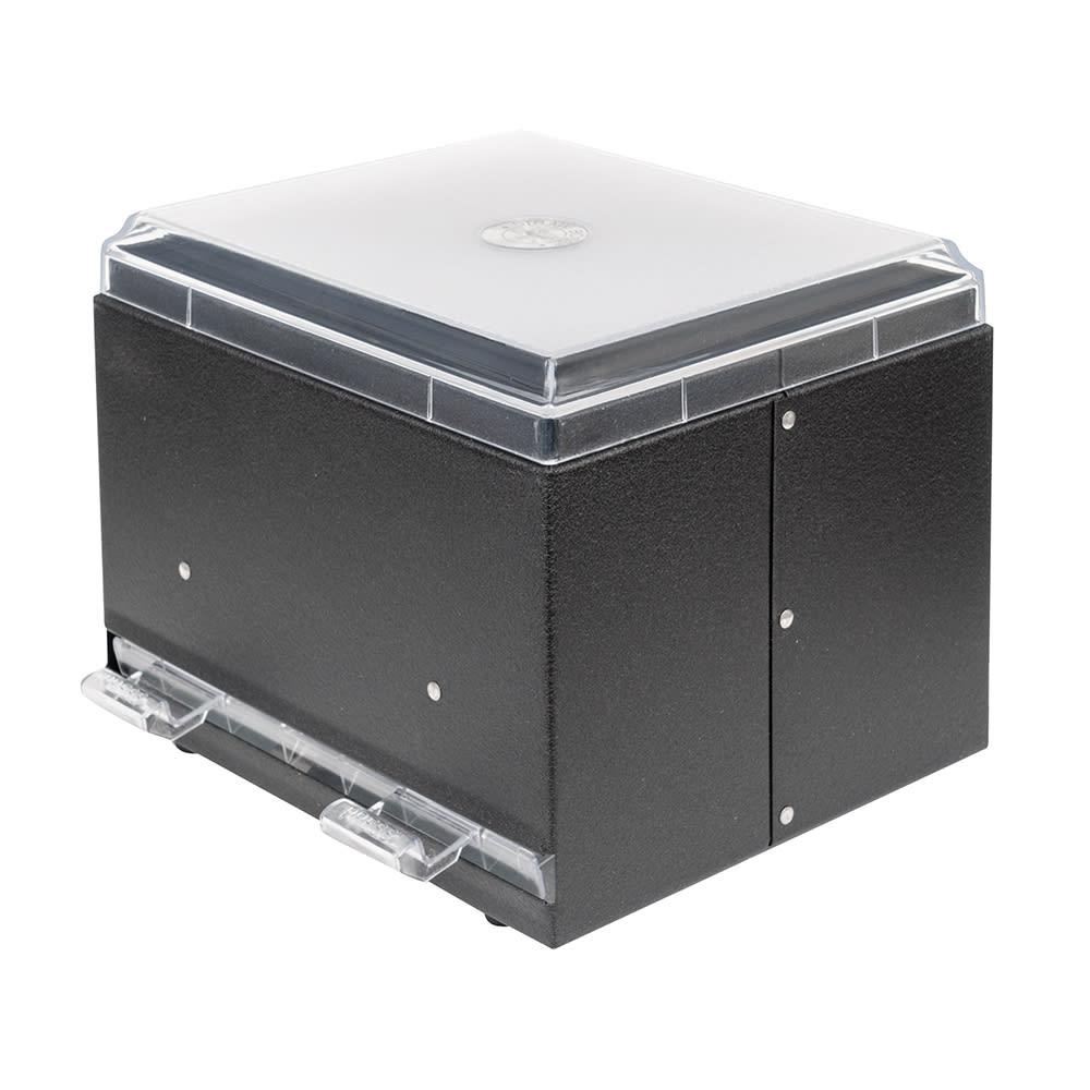 "Vollrath 3802-06 Double-Side Straw Dispenser - 500 Capacity, 9x7 1/2x7"", Black"