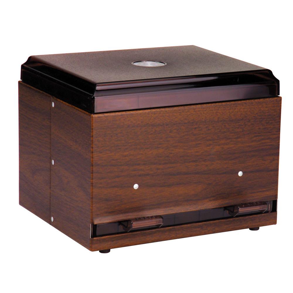 "Vollrath 3802-12 Double-Side Straw Dispenser - 500 Capacity, 9x7-1/2x7"", Woodgrain"