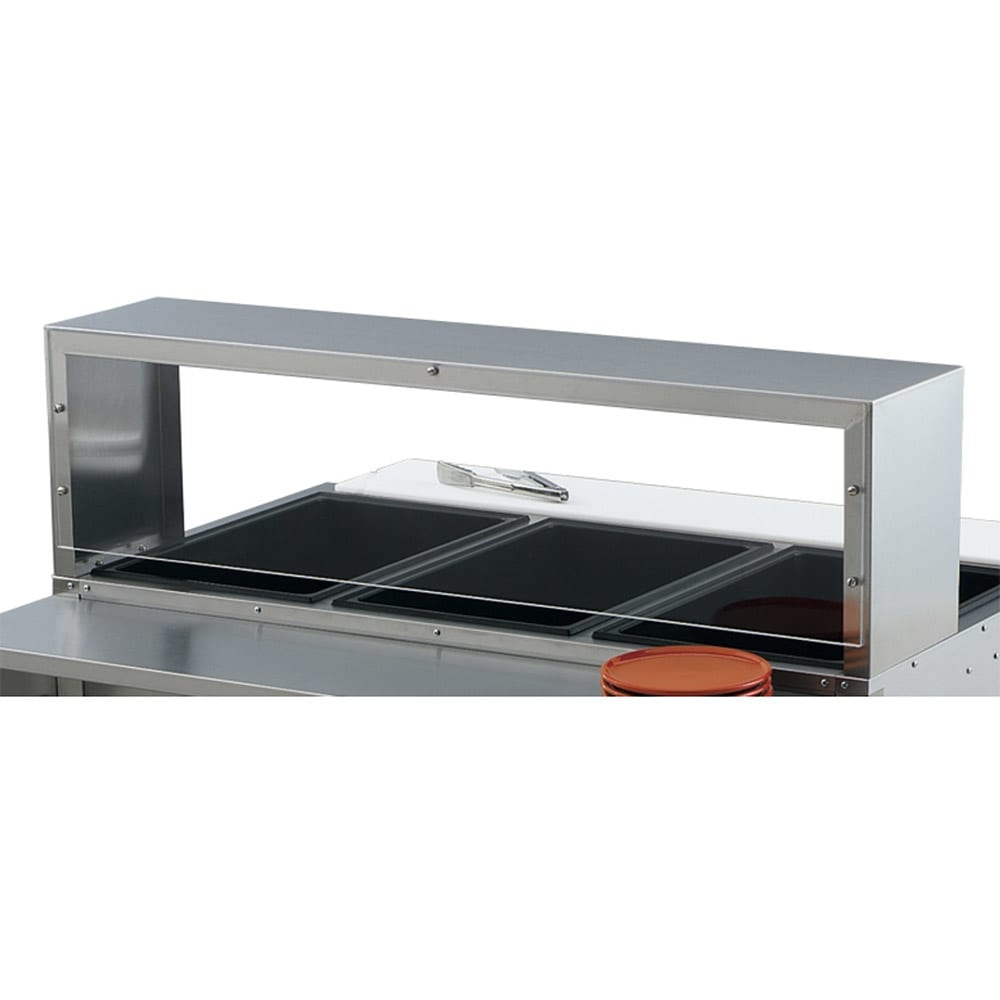 "Vollrath 38053 46 1/2"" Single Deck Cafeteria Breath Guard - 46 1/2x10x13"" Plexiglas Guard"