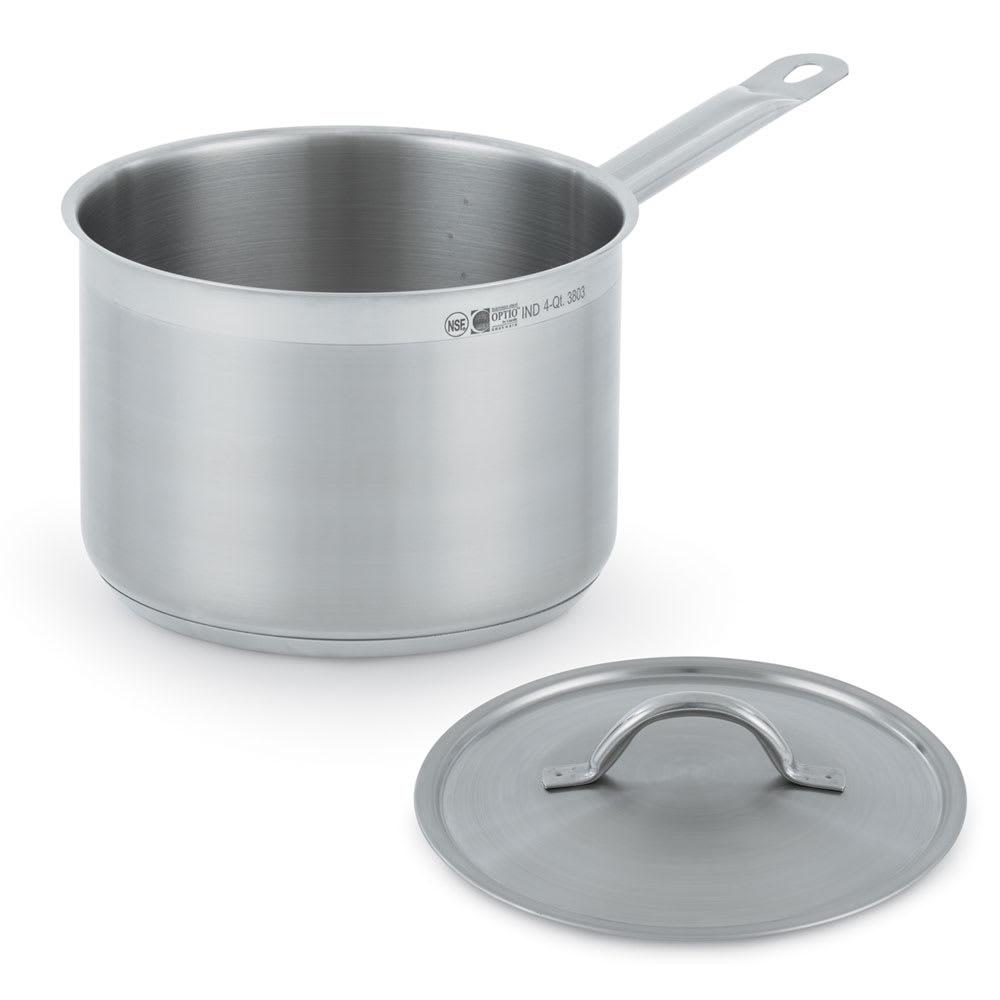Vollrath 3806 6.75 qt Stainless Steel Saucepan w/ Hollow Metal Handle