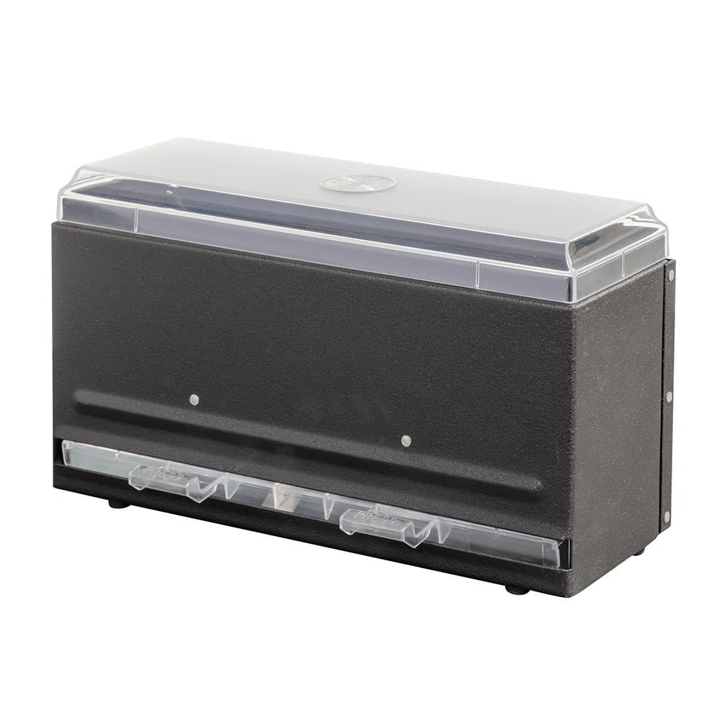 "Vollrath 3820-06 Single-Side Straw Dispenser - 250 Capacity, 12 1/2x5 1/2x7"" Black"