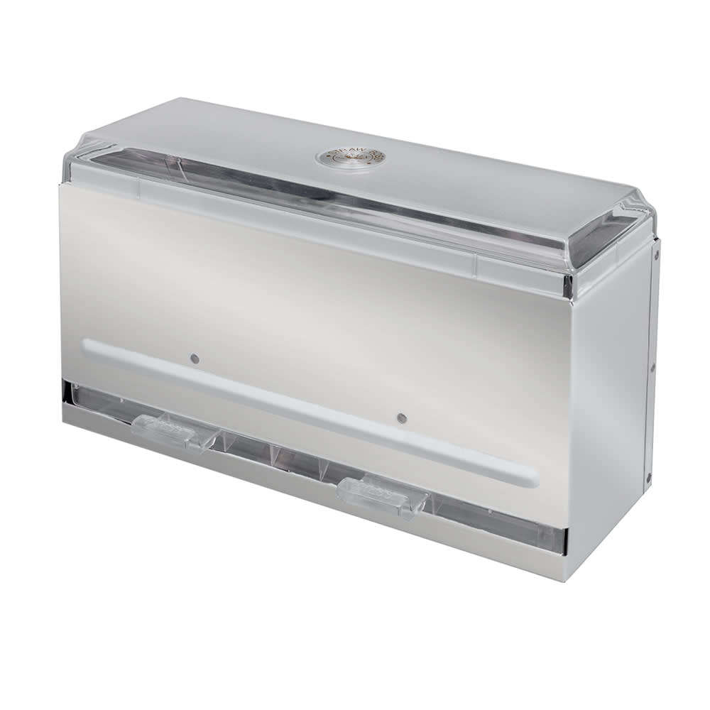 """Vollrath 3820-28 Single-Side Straw Dispenser - 250 Capacity, 12 1/2x5 1/2x7"""" Stainless"""