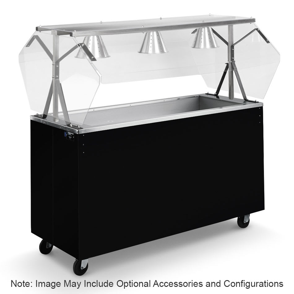 Vollrath 3871760 4 Well Cold Food Station - Lights, Breath Guard, Non-Refrigerated, Open Base