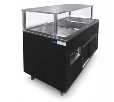 Vollrath 397092 3-Well Hot Cafeteria Unit - Storage Base, Black 208-240v