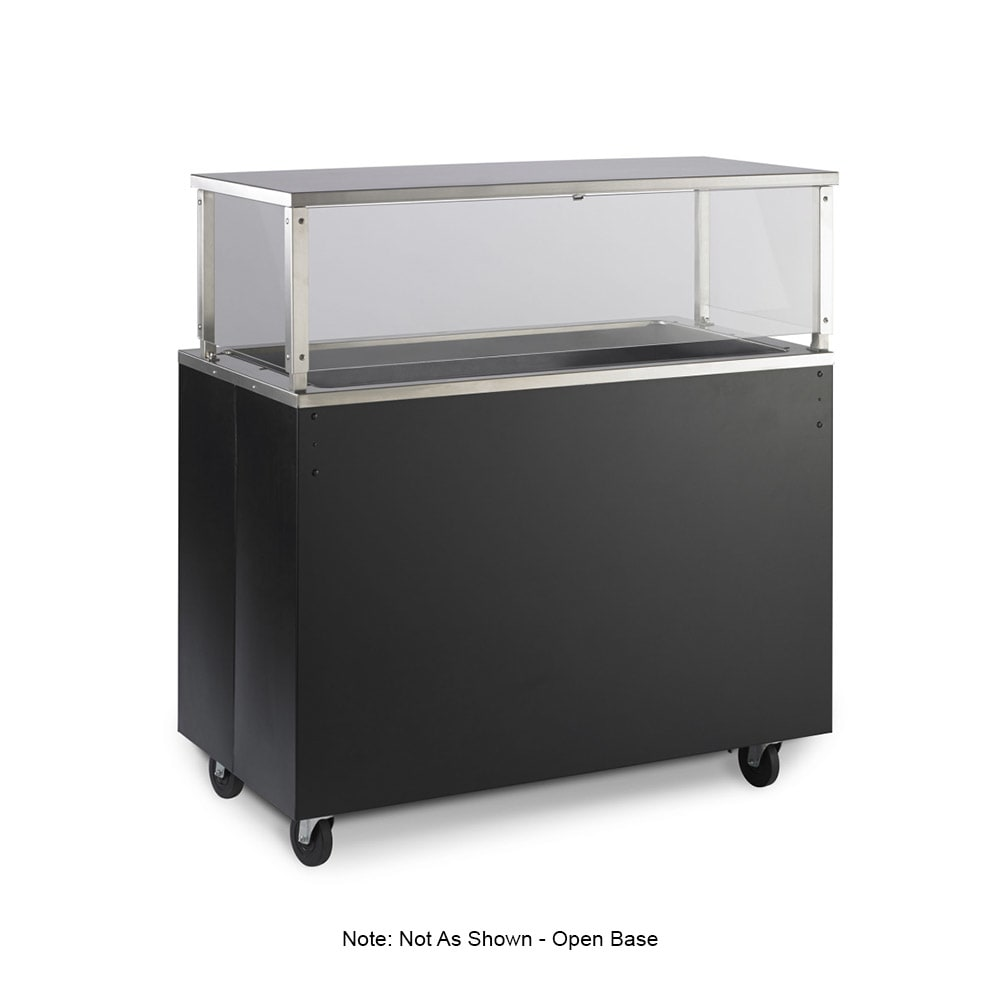 Vollrath 39717 4 Well Cold Cafeteria Unit - Non-Refrigerated, Open Base, Black