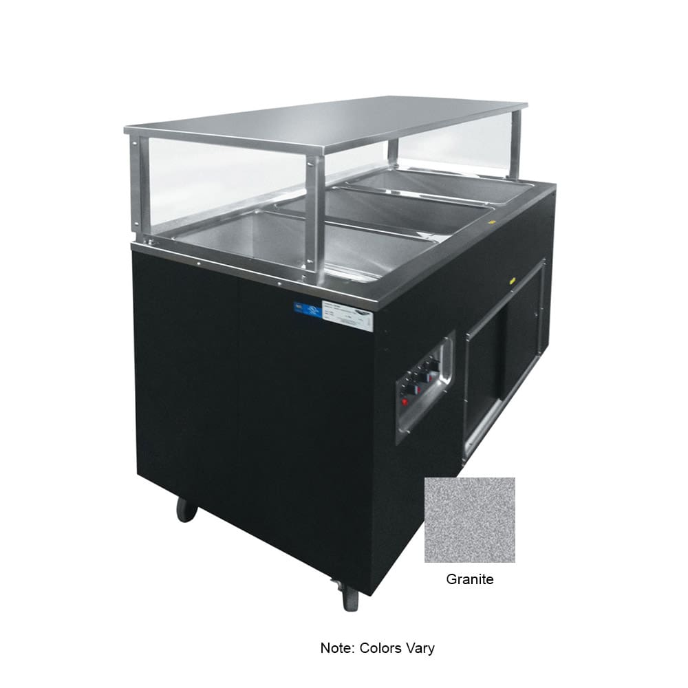 Vollrath 39727 3 Well Hot Cafeteria Unit - Solid Base, Granite 120v