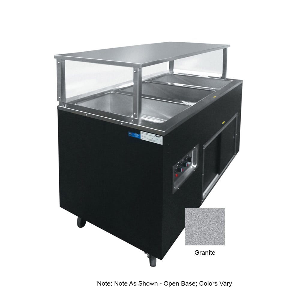 Vollrath 39728 3 Well Hot Cafeteria Unit - Open Base, Granite 120v