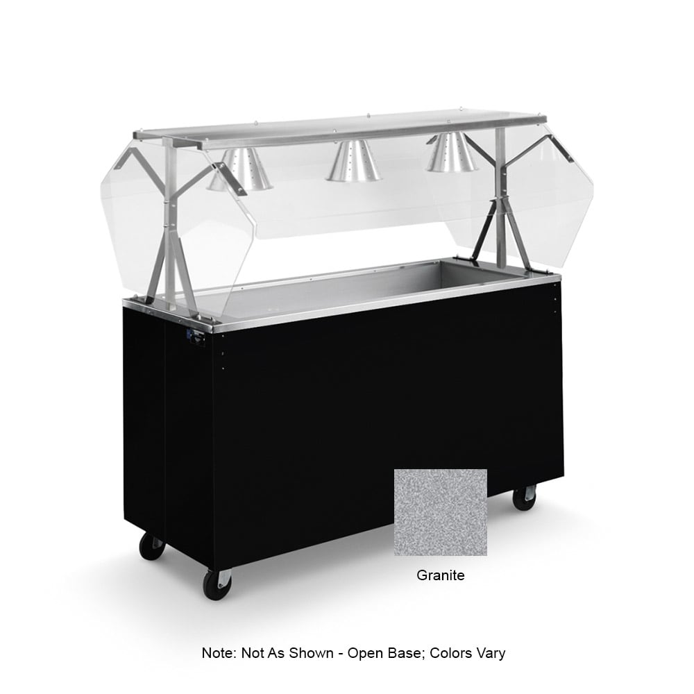 Vollrath 39737 4-Well Cold Cafeteria Unit - Non-Refrigerated, Open Base, Granite