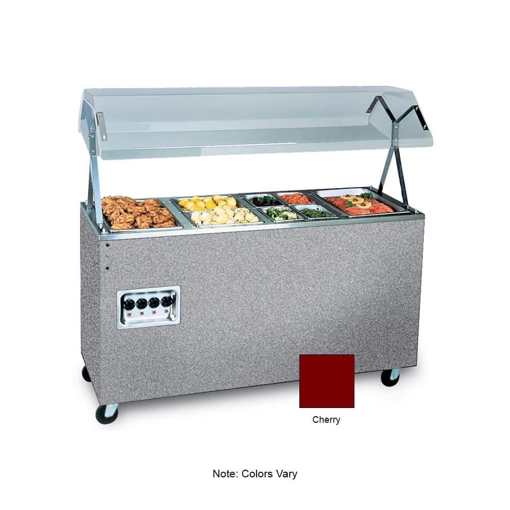 Vollrath 39769 3-Well Hot Cafeteria Unit - Storage Base, Cherry 120v