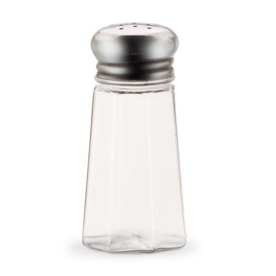 Vollrath 402 2 oz Shaker for Salt/Pepper - Stainless Mushroom Cap, Poly