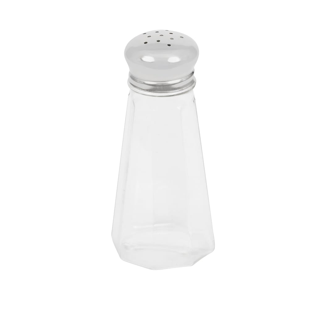 "Vollrath 403 4.75"" Salt/Pepper Shaker w/ Plastic Lid, Paneled"