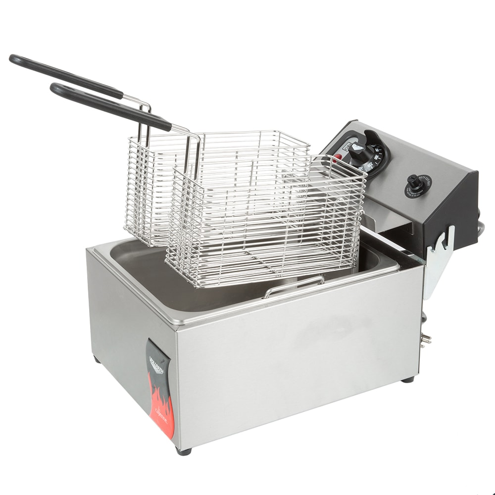Vollrath 40706 Countertop Electric Fryer - (1) 10-lb Vat, 220v/1ph
