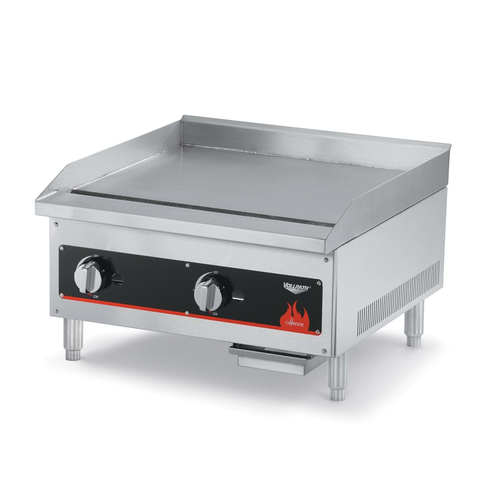 "Vollrath 40718 12"" Gas Griddle - Manual, 3/4"" Steel Plate"