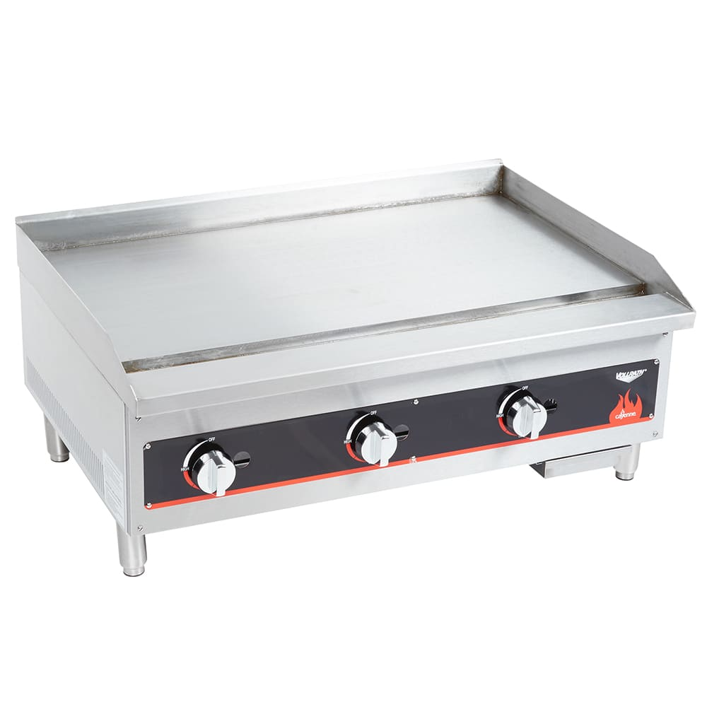 "Vollrath 40721 36"" Gas Griddle - Manual, 3/4"" Steel Plate"