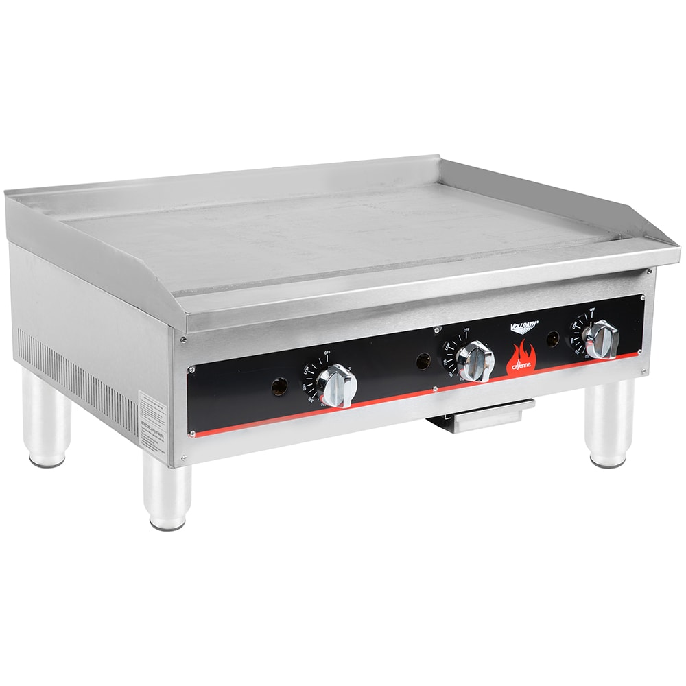 """Vollrath 40723 36"""" Gas Griddle - Thermostatic, 3/4"""" Steel Plate, NG"""