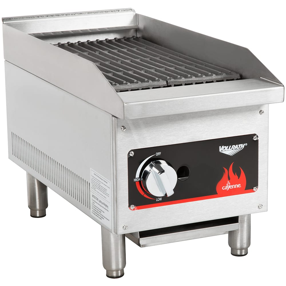 "Vollrath 40728 12"" Gas Charbroiler - Stainless, 28,000 BTU"