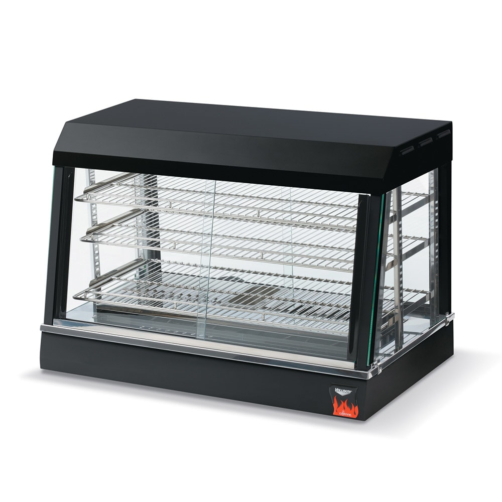 "Vollrath 40733 26"" Self-Service Countertop Heated Display Case w/ Straight Glass - (3) Shelves, 120v"