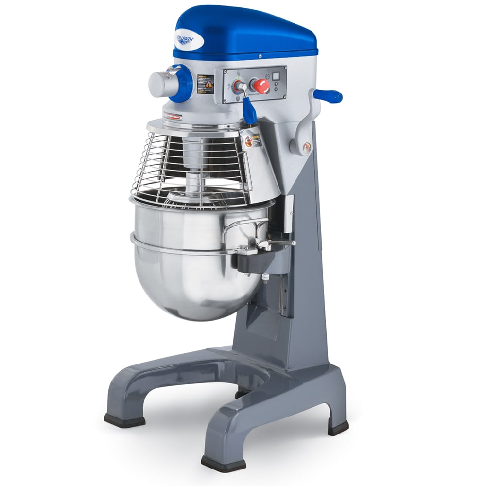 Vollrath 40758 30 qt Floor Mixer with Guard - 3 Speed, #12 Attachment, Timer, 1HP 110v