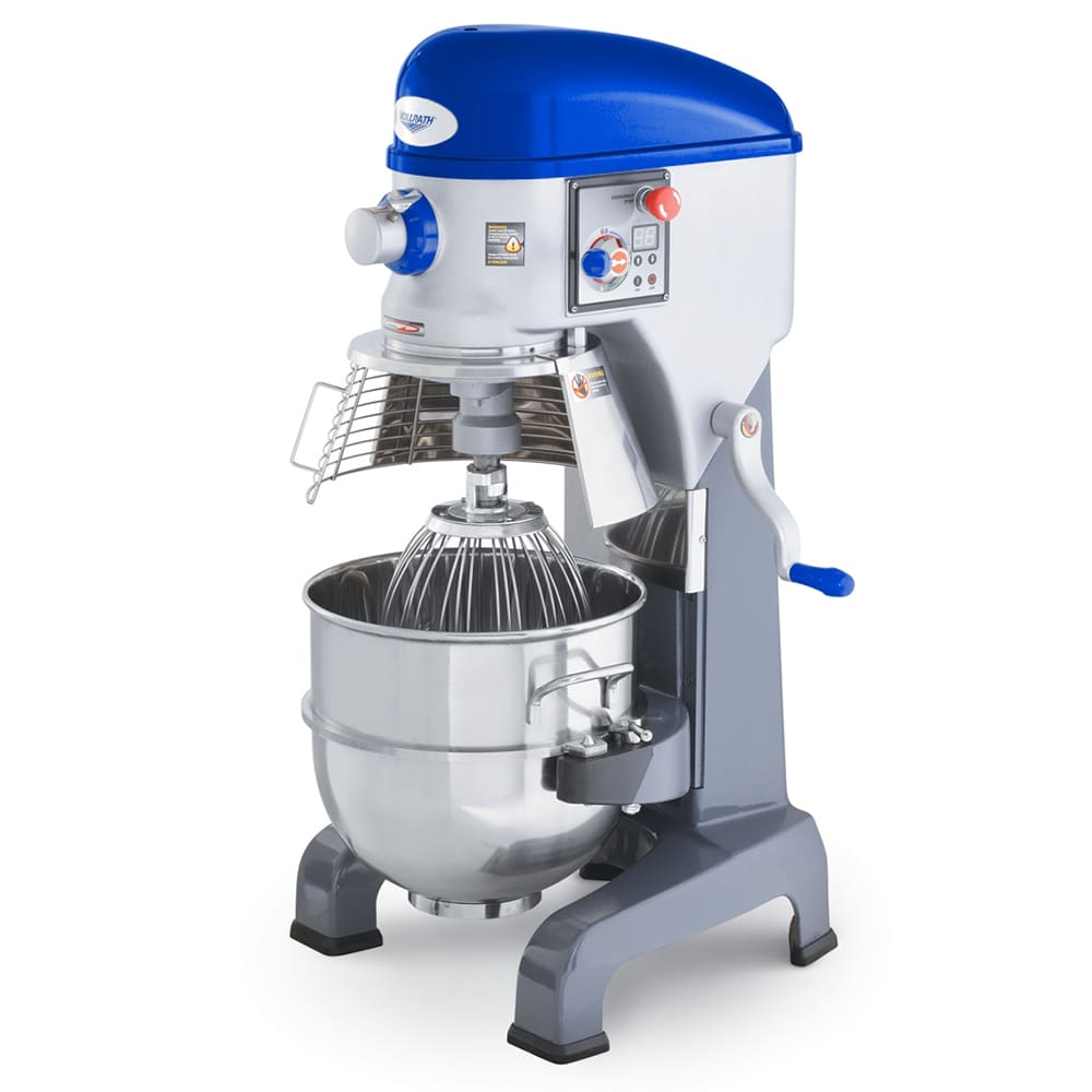 Vollrath 40759 40-qt Floor Mixer with Guard - 3 Speed, #12 Attachment, Timer, 1-1/2HP 220v