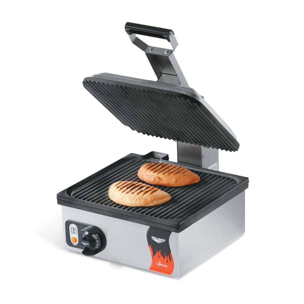 Vollrath 40790 Commercial Panini Press w/ Aluminum Grooved Plates, 120v