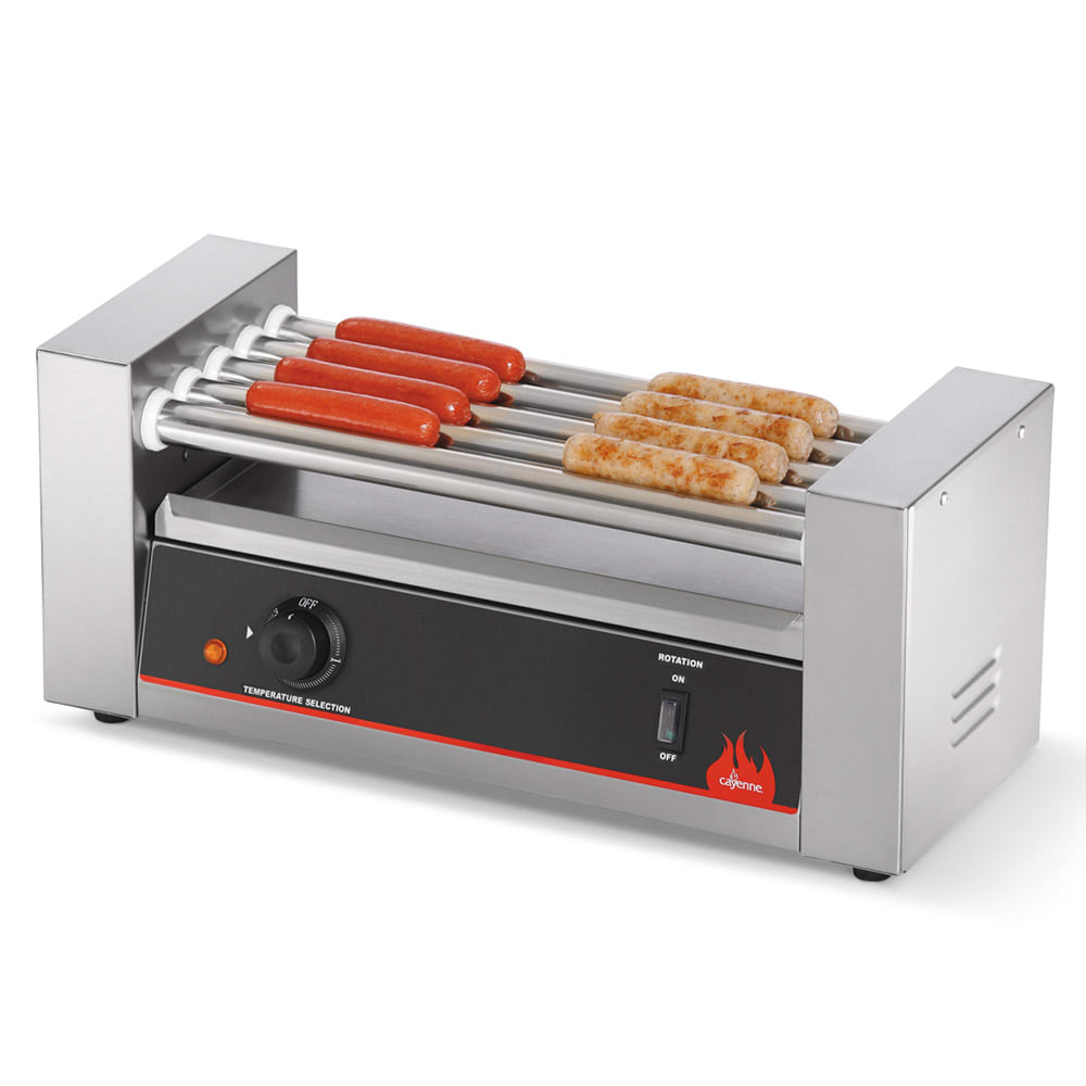 Vollrath 40820 12 Hot Dog Roller Grill - Flat Top, 120v
