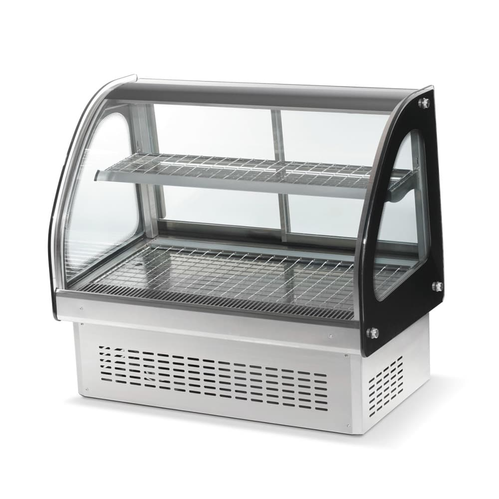 "Vollrath 40845 36"" Full-Service Countertop Heated Display Case w/ Curved Glass - (2 Levels, 120v"