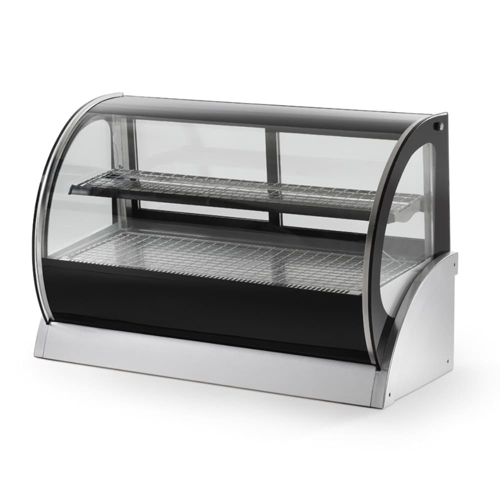 "Vollrath 40855 36"" Full-Service Countertop Heated Display Case w/ Curved Glass - (2) Levels, 120v"