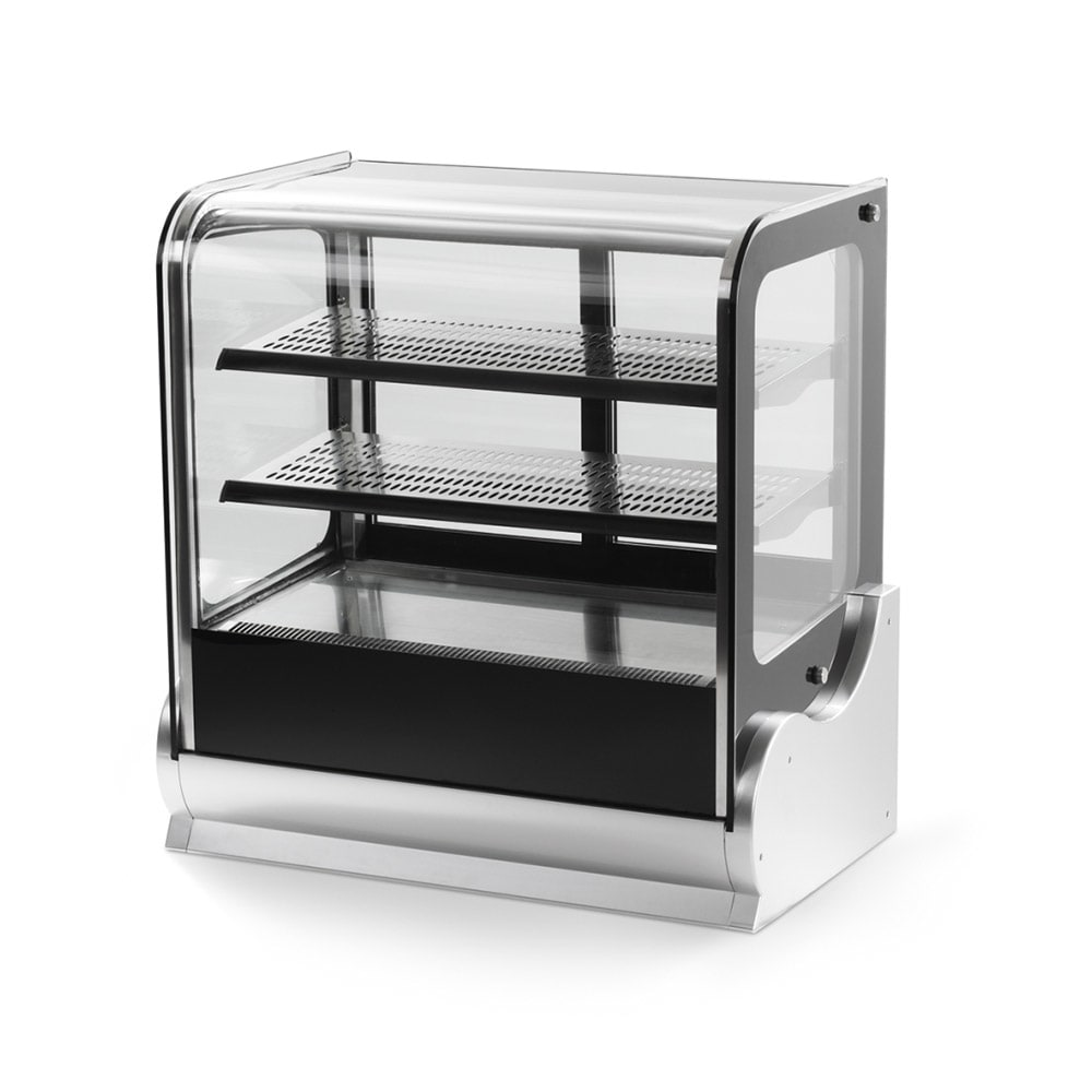 "Vollrath 40865 36"" Full-Service Countertop Heated Display Case w/ Straight Glass - (3) Levels, 120v"