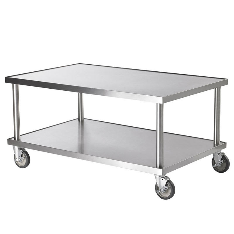"Vollrath 4087936 36"" x 30"" Mobile Equipment Stand for General Use, Undershelf"