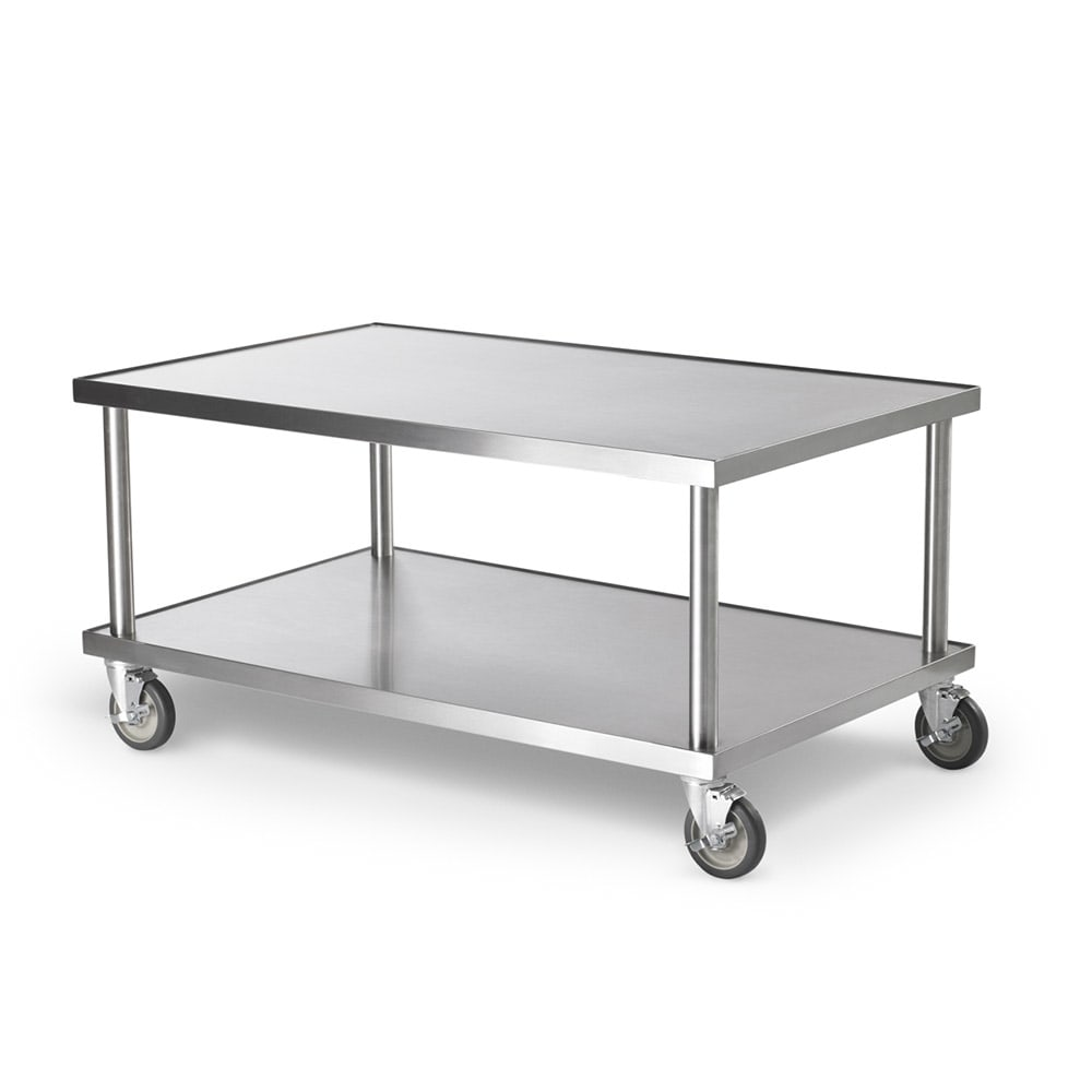 "Vollrath 4087972 72"" x 30"" Mobile Equipment Stand for General Use, Undershelf"