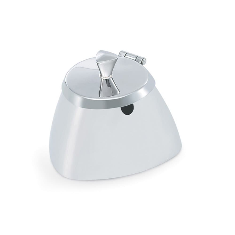 Vollrath 46000 8.5-oz Covered Sugar Bowl - Triangular Body Design, Mirror-Finish Stainless