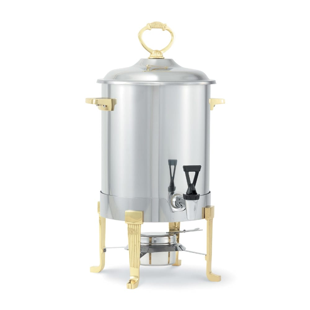 Vollrath 46029 3 Gal Coffee Urn - Brass-Trim, Fuel Holder Included, Stainless