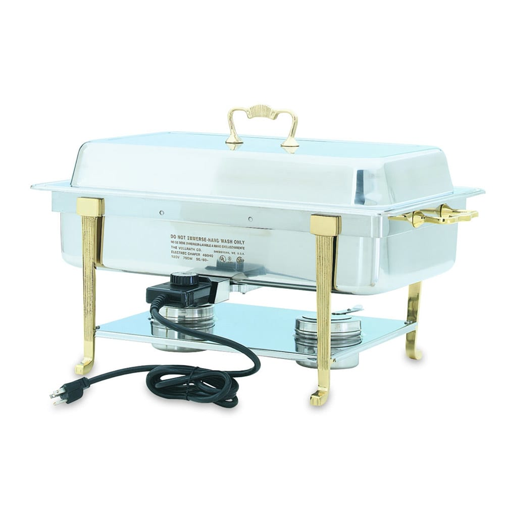 Vollrath 46040 Full Size Chafer w/ Lift-off Lid & Dual Source Heat