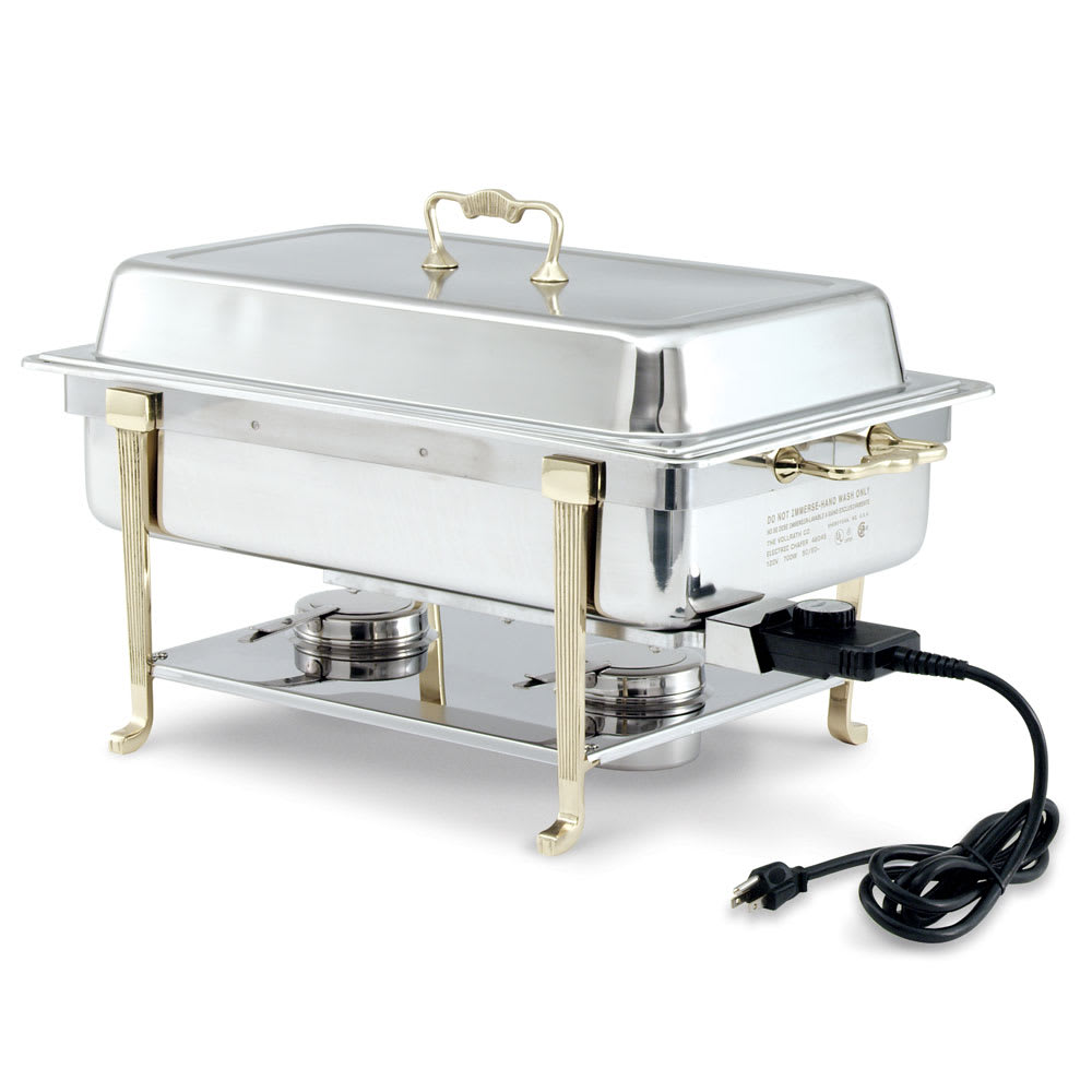 Vollrath 46045 Full Size Chafer w/ Lift-off Lid & Dual Source Heat