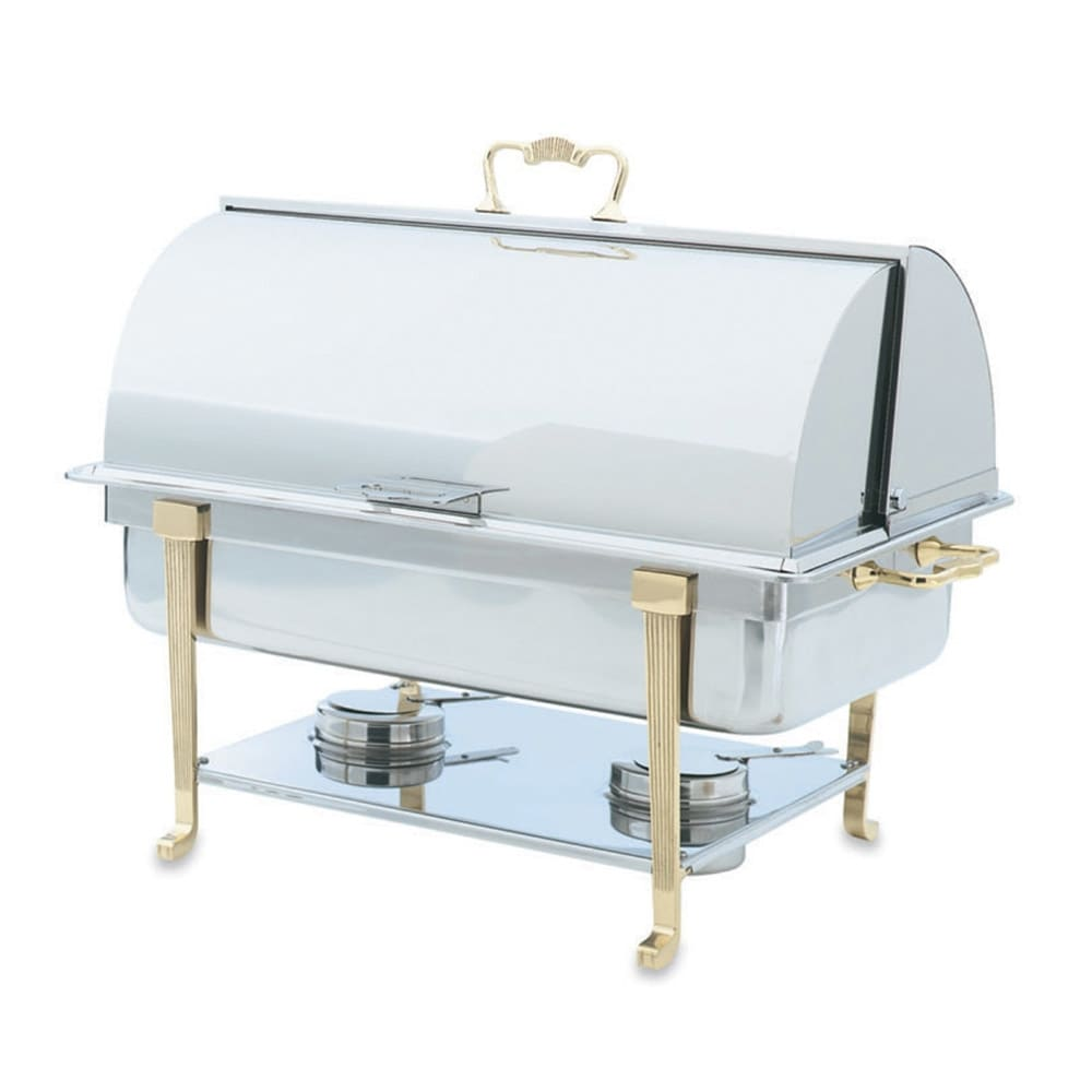 Vollrath 46051 Full Size Chafer w/ Roll-top Lid & Chafing Fuel Heat
