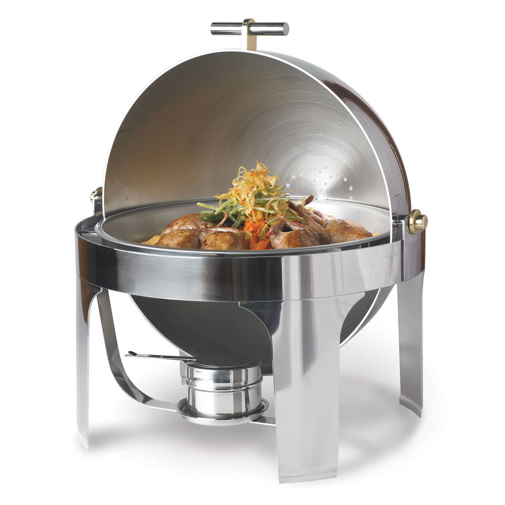 Vollrath 46070 Round Chafer w/ Roll-Top Lid & Chafing Fuel Heat