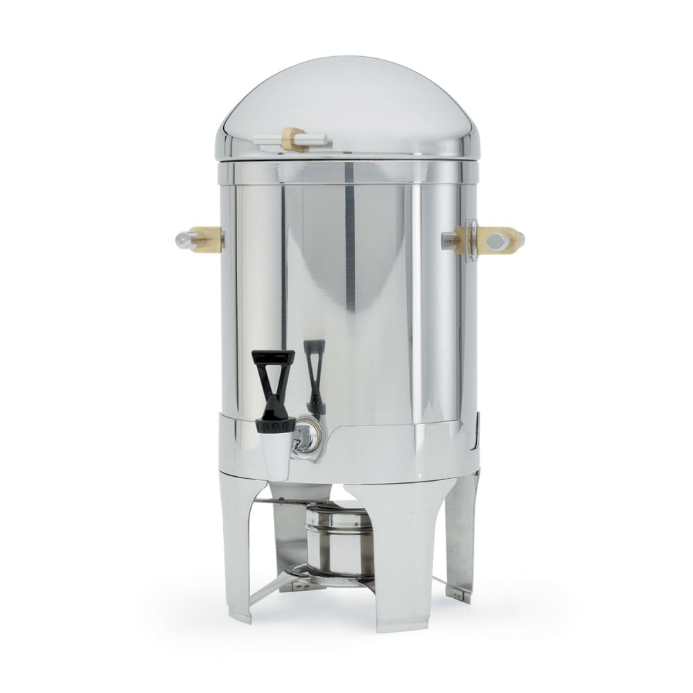 Vollrath 46093 3 Gal Coffee Urn - Fuel Holder Included, Brilliant Finish Stainless