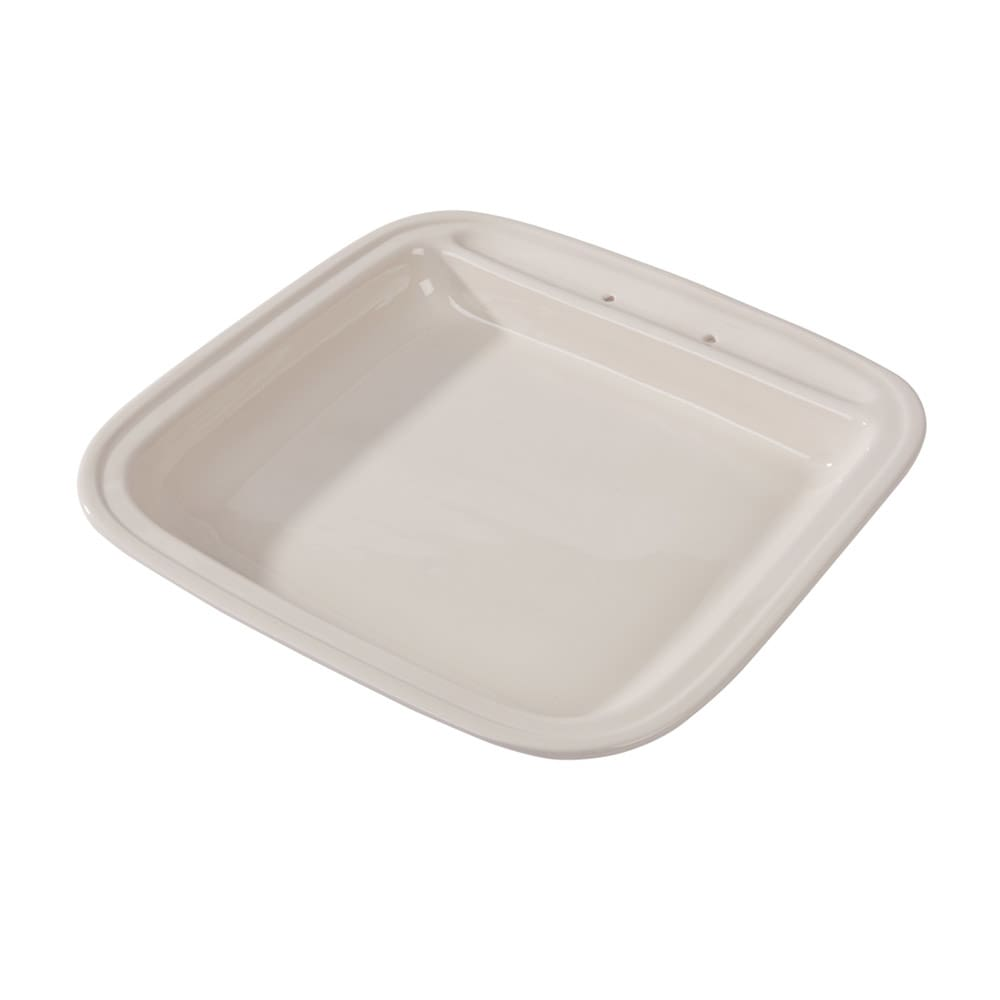 Vollrath 46136 6 qt Square Replacement Porcelain Food Pan