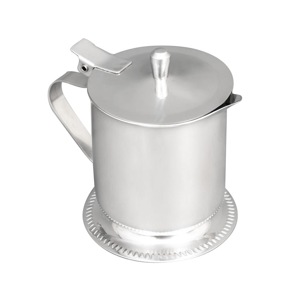 Vollrath 46205 5 oz Creamer - Hinged Cover, Mirror-Finish Stainless