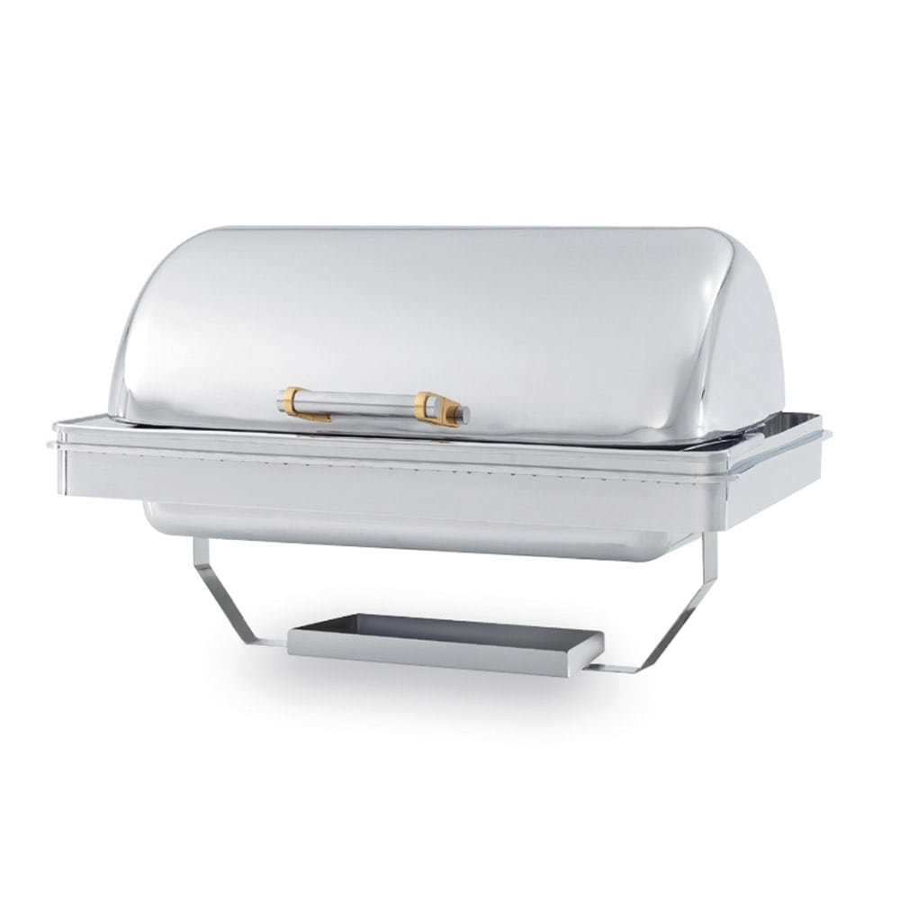 Vollrath 46258 Full Size Chafer w/ Roll-top Lid & Chafing Fuel Heat