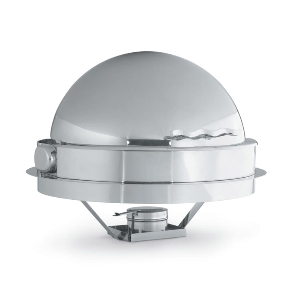 Vollrath 4634110 Round Chafer w/ Roll-Top Lid & Chafing Fuel Heat