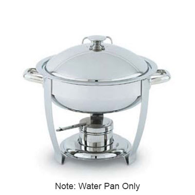 Vollrath 46487 6 qt Round Chafer Dripless Water Pan - Mirror-Finish